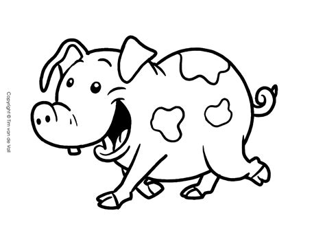 Pig Face Coloring Page Eskayalitim