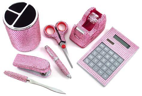 pink desk accessories 7 light pink office supply set pen scissors