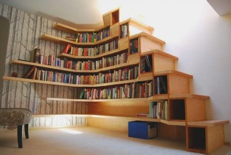 Bookcase Stairs by Ultra Compact Stairs 12 Next Level Space Saving Designs