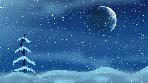 christmas night moon tree  image  pixabay