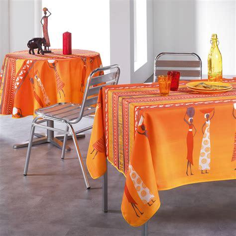nappe anti tache au metre nappe ronde diamtre 180 cm linge de table pas cher kikko style africain afrique