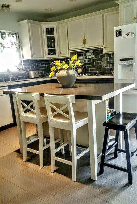 kitchen island with stools ikea ikea stenstorp kitchen island we added grey 8268