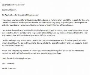 housekeeper cover letter example icoverorguk With cover letter for house cleaning job