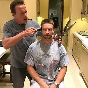 Arnold Schwarzenegger Gives Son Patrick At-Home Haircut ...