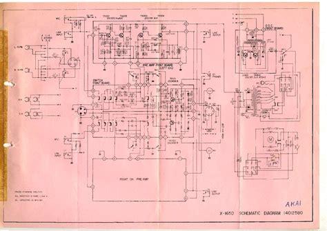 akai x 165d magnetophon sch service manual schematics eeprom repair info for