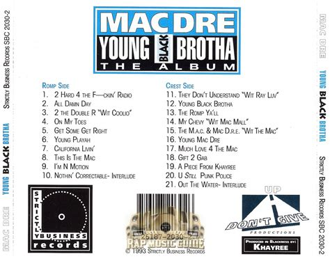 mac dre genie of the l album black brotha album