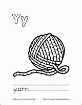 Coloring Yarn Pages Ball Letter Printable Colouring Sheets Cat Books Drawing Letters Homeschooling sketch template