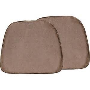 doeskin 17 quot x15 quot foam chair pad set of 2 walmart com