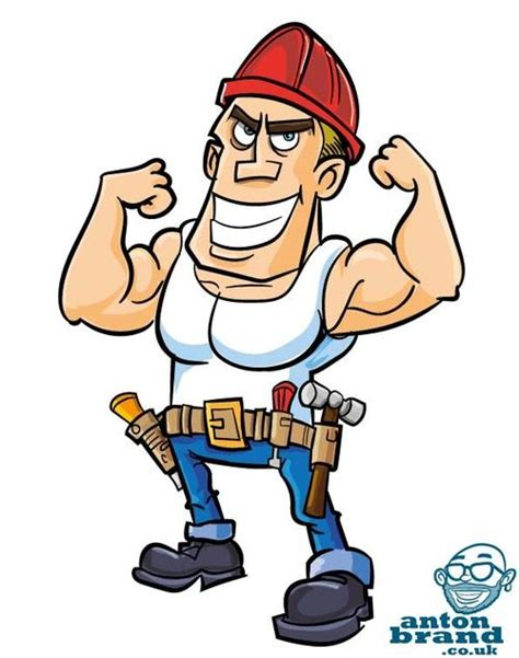 cartoon construction worker cartoon guy pictures drawings