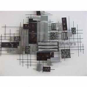 Decoration Murale Metal Design : decoration murale en m tal gris ~ Teatrodelosmanantiales.com Idées de Décoration
