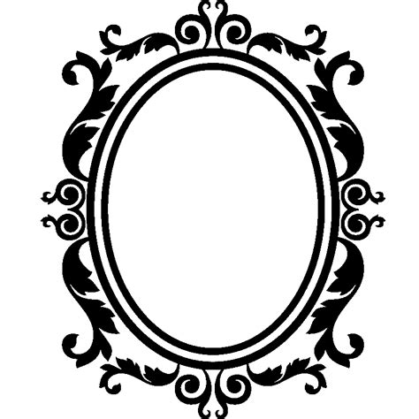 mirroir chambre sticker design baroque cadre en forme de miroir stickers
