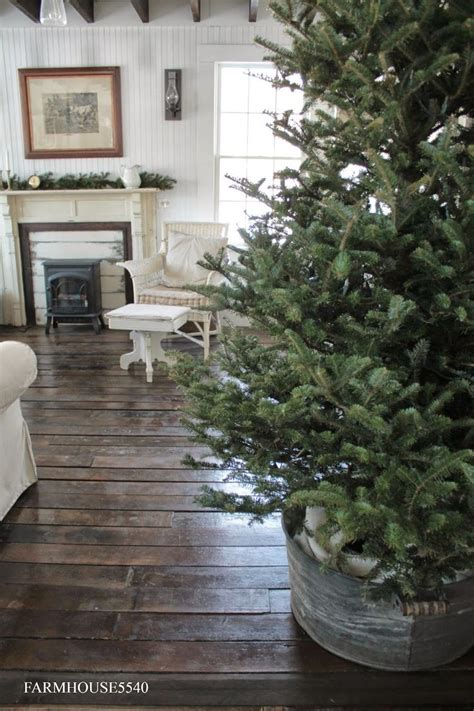 farmhouse christmas trees ideas  pinterest