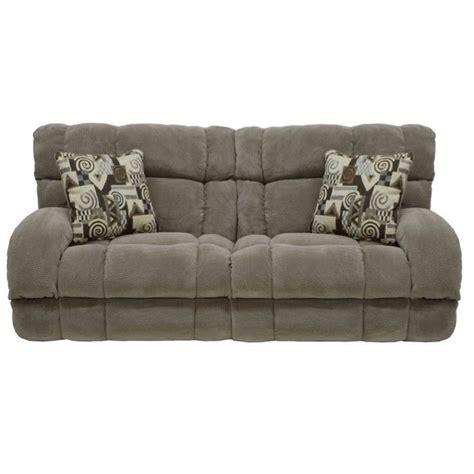 catnapper furniture catnapper siesta power lay flat reclining fabric sofa in