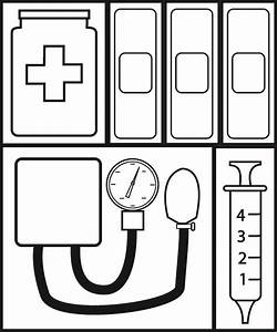 doctor bag coloring page clipart panda free clipart images With doctor bag craft template