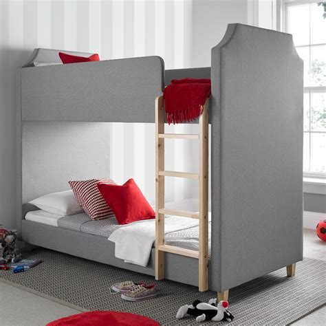 Grey Fabric Bed With Mattress by Betternowm Co Uk Legacy Grey Fabric Bunk Bed With 2 X