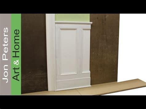 tips  designing  installing chair rail  panel