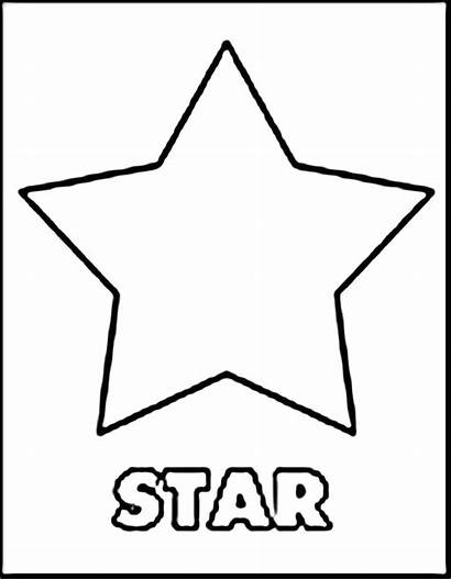Shapes Coloring Shape Pages Star 3d Basic