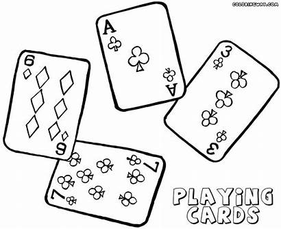 Playing Cards Coloring Pages Playingcards