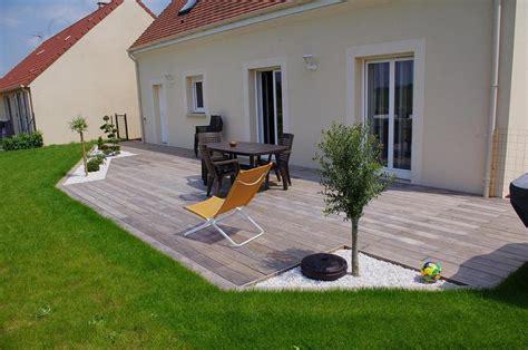 terrasse bois et gravier sol ext 233 rieur pinterest
