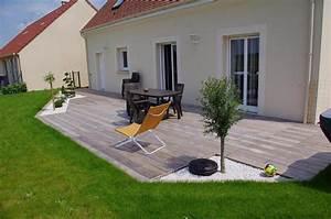 Pose Terrasse Bois Sur Gravier : terrasse bois grad ~ Premium-room.com Idées de Décoration