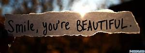 smile you are beautiful 2 Facebook Cover timeline photo ...