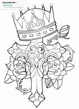 Cross Rose Crown Drawing Tattoos Coloring Crosses Pages Roses Tattoo Thorn Drawings Three Deviantart Ko Designs Thorns Flowers Traditional Cko sketch template
