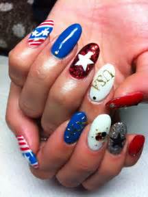 Fourth of july nail art and toe designs th