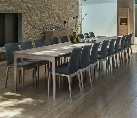 contemporary  long dining table wharfside furniture