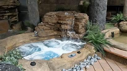 Tub Spa Rock Tubs Rocks Backyard Custom