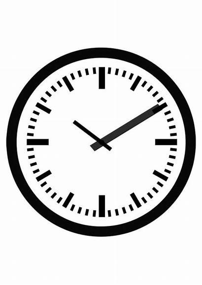 Clock Coloring Klok Tijd Pages Edupics