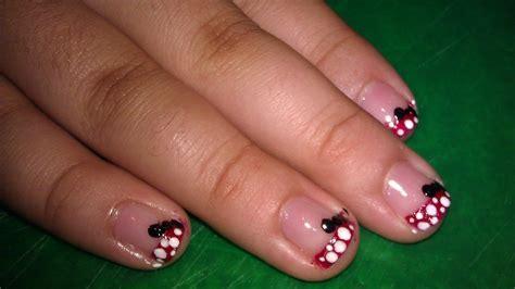 mini mouse nail design   paint  character nail