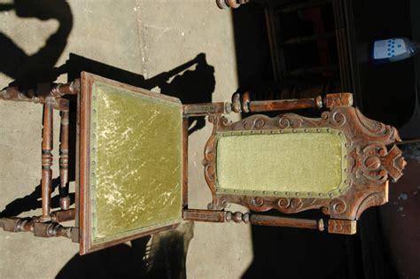 stoel hout stof antieke stoel hout stof stoelen garage sale assendelft