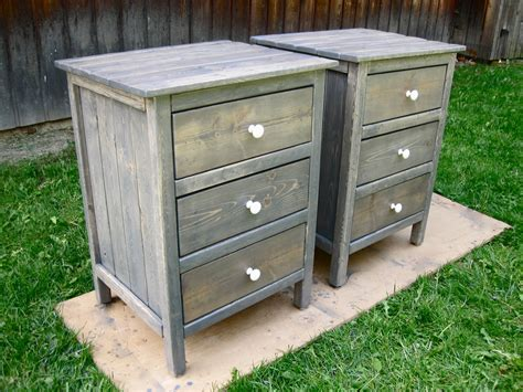Nightstand Blueprints by White 3 Drawer Stands Diy Projects