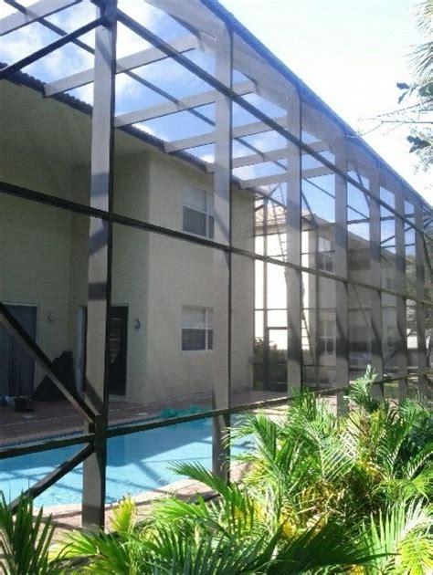 2 story screen pool enclosure west palm florida