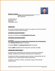 resume template simple format in word 4 file intended With simple resume format free download