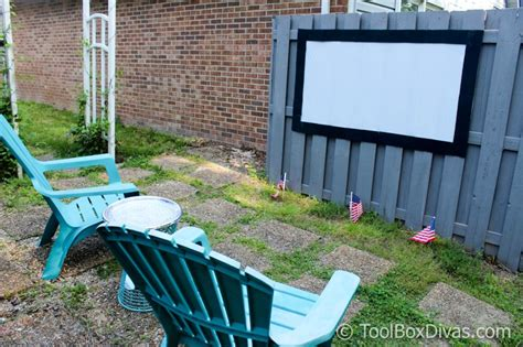 diy outdoor  theater  projection screen toolbox