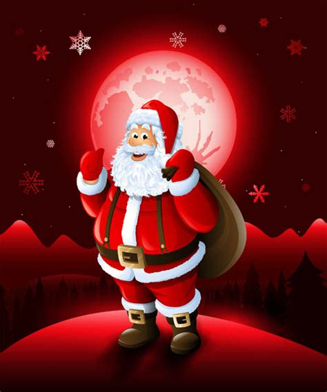 christmas santa  red xmas background vector vector