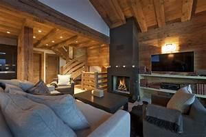 interieur chalet moderne deco maison moderne With decoration interieur chalet moderne