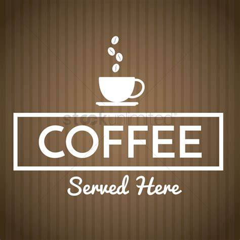 Hand written typography and wes anderson style. Coffee shop sign Vector Image - 1753381 | StockUnlimited