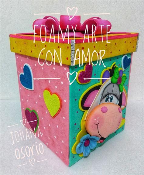 cajas explosiva en foamy por johana osorio fofuchas crafts general crafts valentines