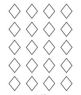 diamond rhombus printable diamond outline