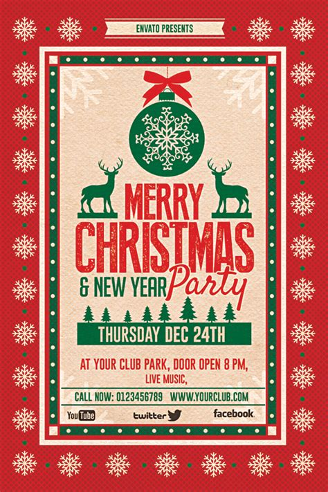 christmas party flyer flyer on behance