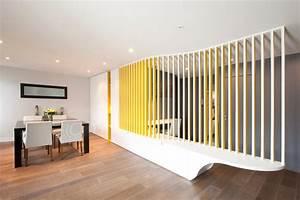 la paroi ondulee contemporain salle a manger paris With exceptional idee deco jardin contemporain 5 dilemme deco saloncuisine ouverte