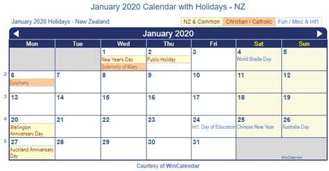 print friendly january   zealand calendar  printing