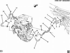 2007 Chevrolet Impala Ltz Hoses  U0026 Pipes  Heater