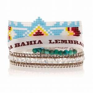 bracelet bleu ciel et blanc perles et ruban bresilien With robe fourreau combiné avec bracelet hipanema blanc