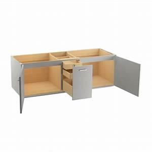 KOHLER Jute 60 In W Vanity Cabinet In Mohair Grey K 99548