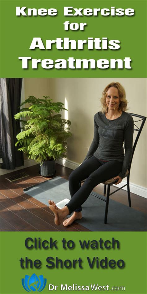 exercise for arthritic knee using and a chair