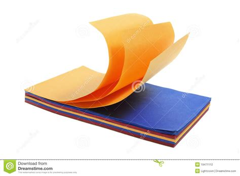color pad color paper pad stock photo image of cards notepaper