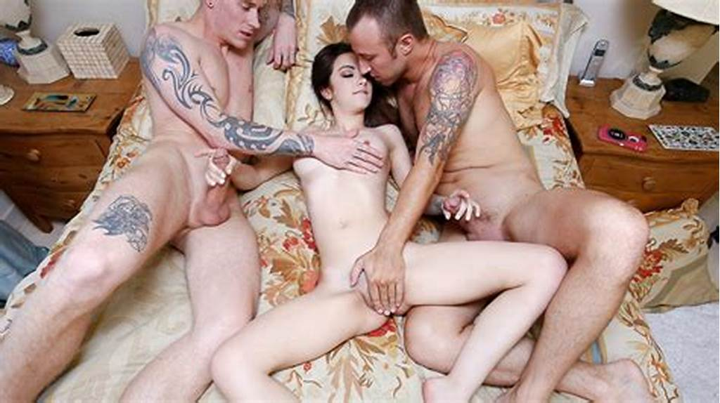 #Sexy #Teen #Double #Penetrated #By #Her #Boyfriend #And #Stepbrother